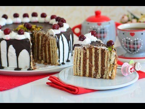 Bisküvili  Yaş  Pasta ( En  kolay  ve  garanti  yaş  pasta  tarifi )
