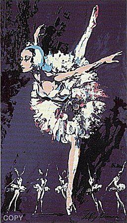 "Leroy Neiman ""PRIMA BALLERINA"" BALLET DANCER Plate : Lot 361E"
