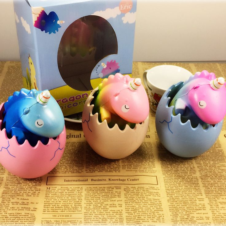 Eric Squishy Unicorn Dragon Pet Dinosaur Egg Slow Rising With Packaging Collection Gift Toy