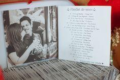 CD como lembrancinha de casamento no casamento rockabilly da Letícia e Clauber em São Paulo, onde o casal fez a própria decoração.