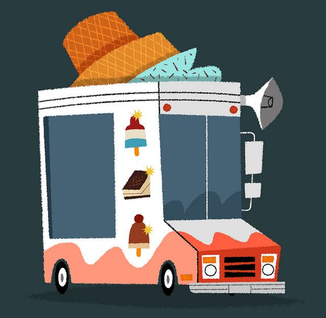 Emma and I want to own an Ice Cream truck some day. Maybe it should look like this. : )