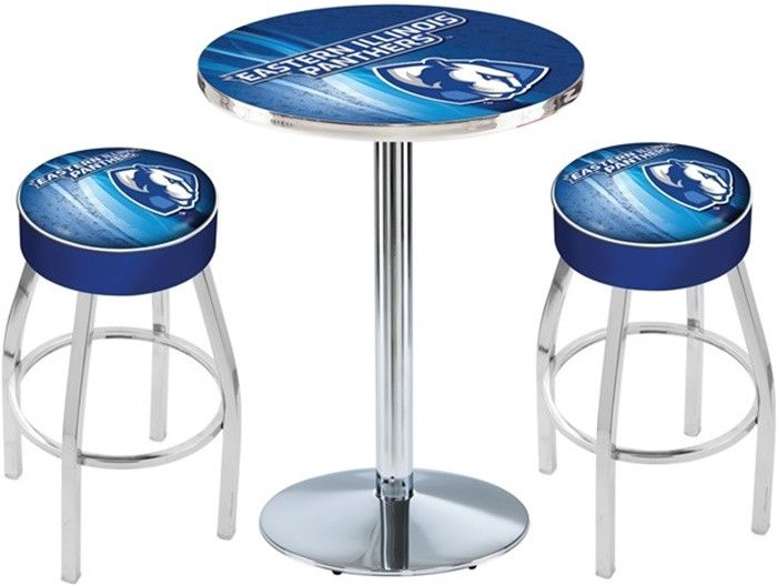 Eastern Illinois Panthers D2 Chrome Pub Table Set. Available in 28-inch or 36-inch diameter Table Top. Visit SportsFansPlus.com for details.
