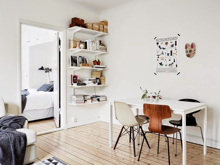 chair mixing and simple shelves