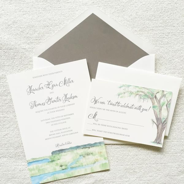 76 best Charleston Wedding Invitations images on Pinterest Wedding
