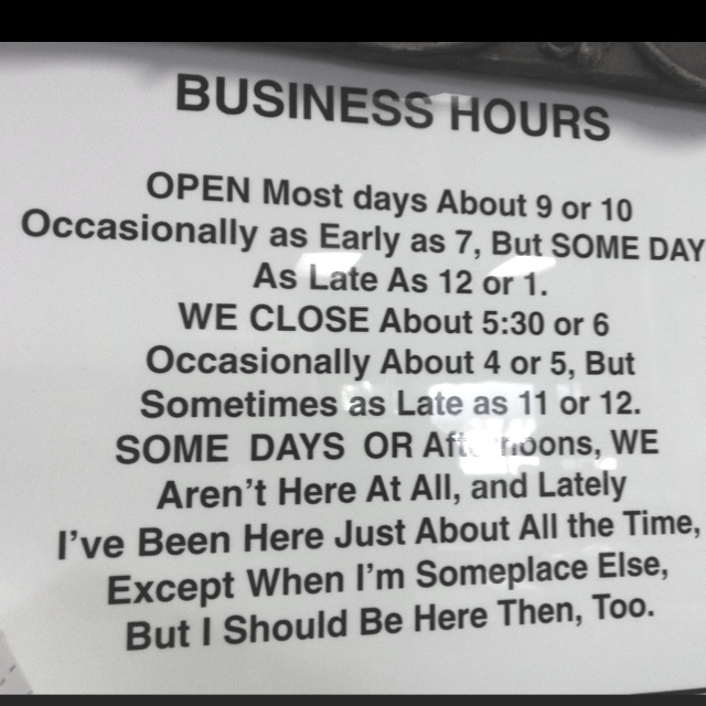 Best 25+ Business hours sign ideas on Pinterest   Store hours ...