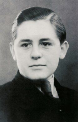 Helmuth Hübener (8 January 1925 - 27 October 1942) was one of the youngest opponents to the Third Reich to be sentenced to death and executed. He lived in Hamburg, Germany, and joined the Hitler Youth but after Kristallnacht he started questioning the Nazi party, and left.   He started making anti-Nazi pamphlets.  On the 5 February 1942 he was arrested by Gestapo, sentenced to death on the 11 August and beheaded by guillotine on  the 27 October.