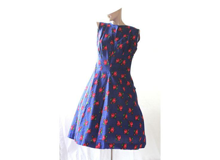 50er Original VintageKleid Gr. 36/38  mit Haarband von Avantgarde-Plus auf DaWanda.com