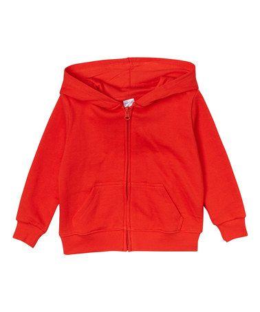 Love this Red Zip-Up Hoodie - Toddler & Kids on #zulily! #zulilyfinds