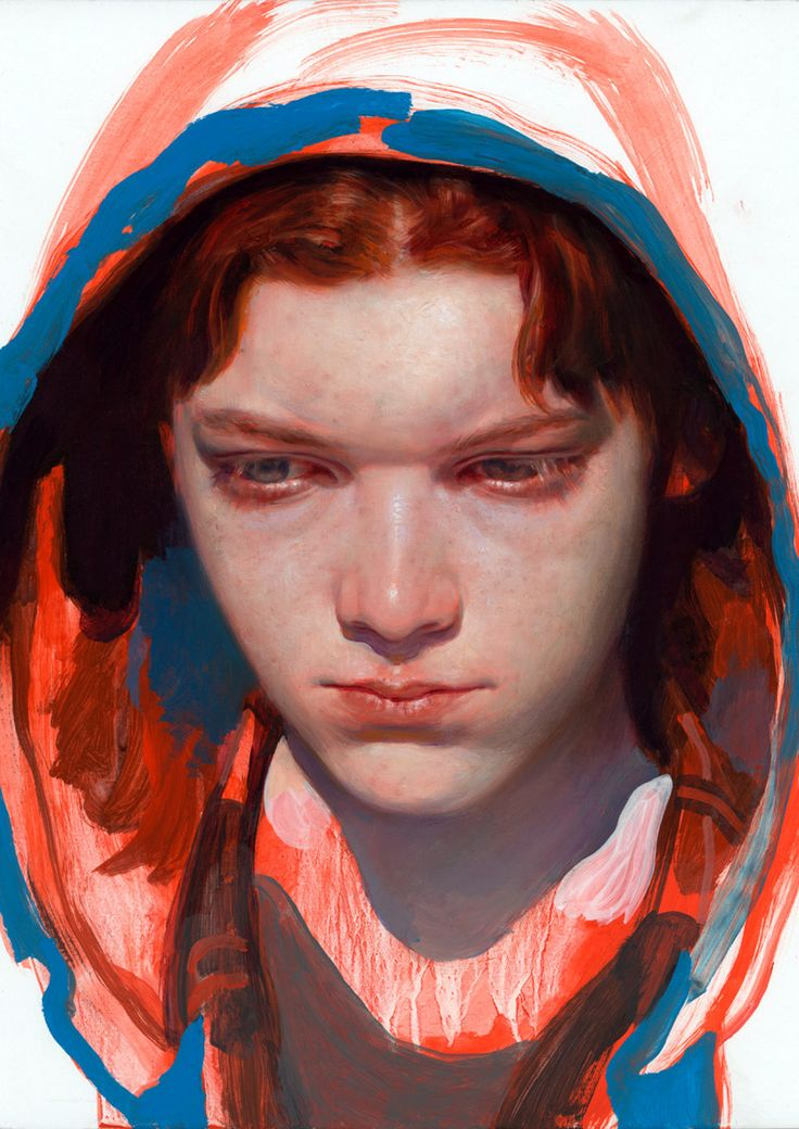 Complementary blue and orange colours James Jean
