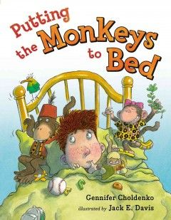 Sam is never ready to go to sleep at bedtime. There are always more questions to ask Mama, more books to read . . . not to mention the monkeys! Sam's rambunctious trio of toy monkeys would much rather jump on the bed and make up songs about ping pong than go to sleep.  Eventually Sam wants to go to sleep. But how will he ever get the monkeys to settle down?