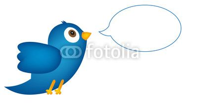 Vector: Blue bird with speech bubble