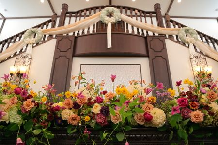 夏の装花 鳳鳴館さまへ : 一会 ウエディングの花