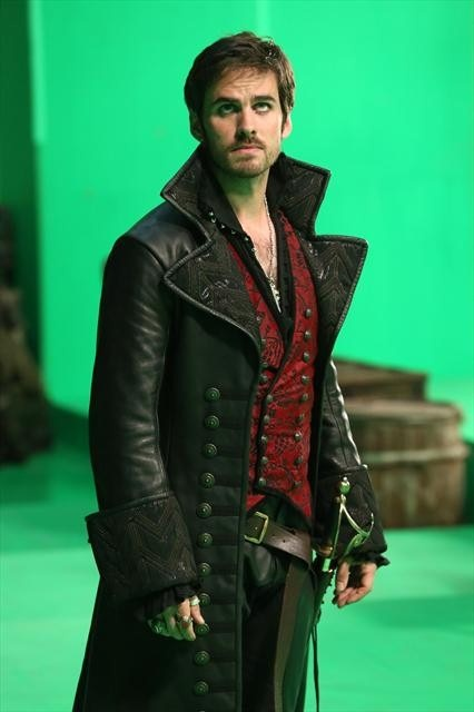 I'm not sure if I like his looks or his coat more... -- Once Upon a Time Photos: Captain Hook Arrives in the Fairytale Land!
