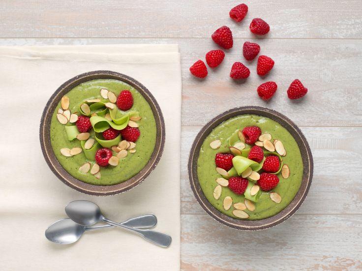 Ein süßer, aber nährstoffreicher grüner Smoothie mit frischen Himbeeren und Toas …   – Smoothies