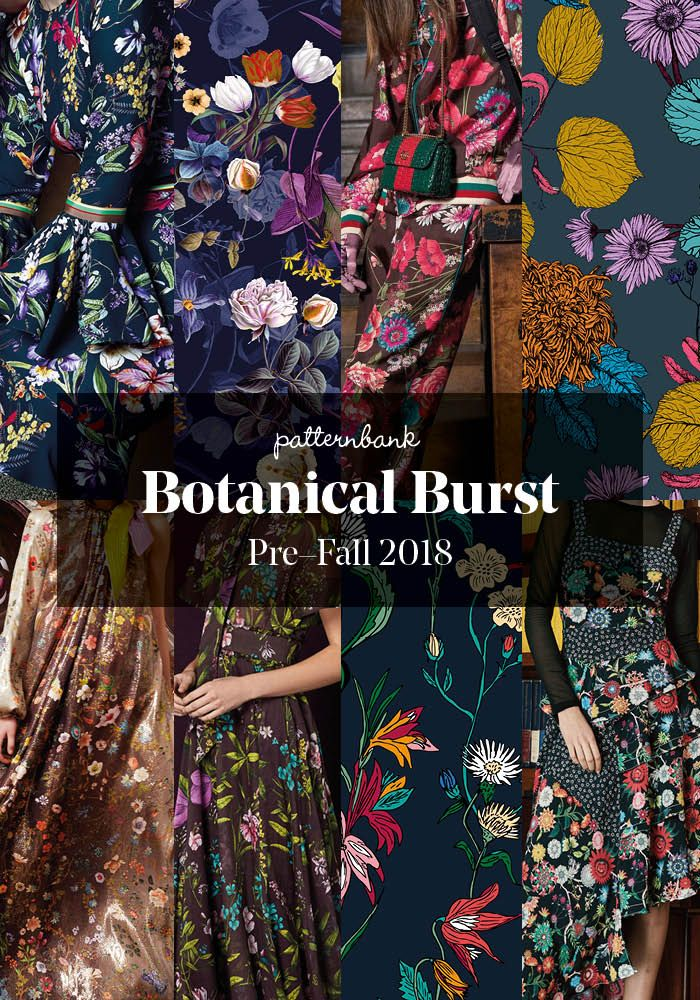 The Patternbank Team have beenanalysing the latest Pre-Fall2018 collections and have put together the strongest print trends alongside designs from theP