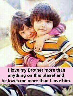 A brother is a person whose supports you have even if you don't want and whose love you've got even if you don't need. :) Love you bro <3 Tag-mention your brother