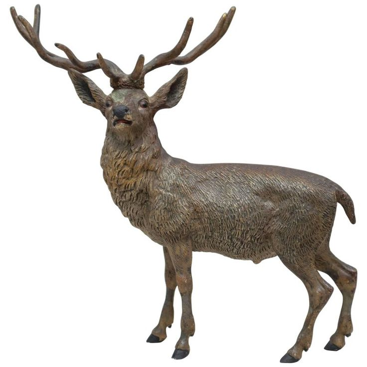 Vienna Bronze Stag Sculpture   From a unique collection of antique and modern sculptures at https://www.1stdibs.com/furniture/decorative-objects/sculptures/