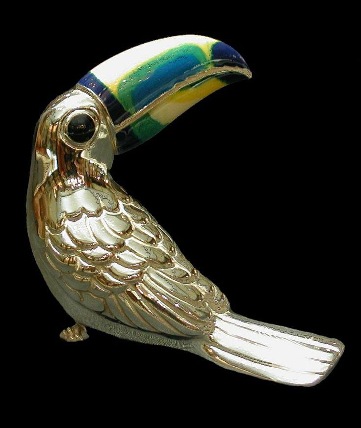 Enamelled silve toucan