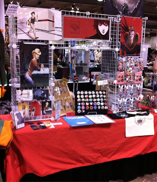 Anime Expo Stands : My booth by asteroidz on deviantart artist alley setup