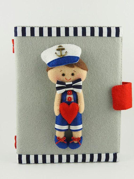 Personalized photo album - kids photo album - baby photo album - 6x4 - sailor - marine