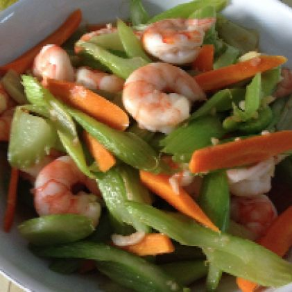 Actifry Prawns with Celery