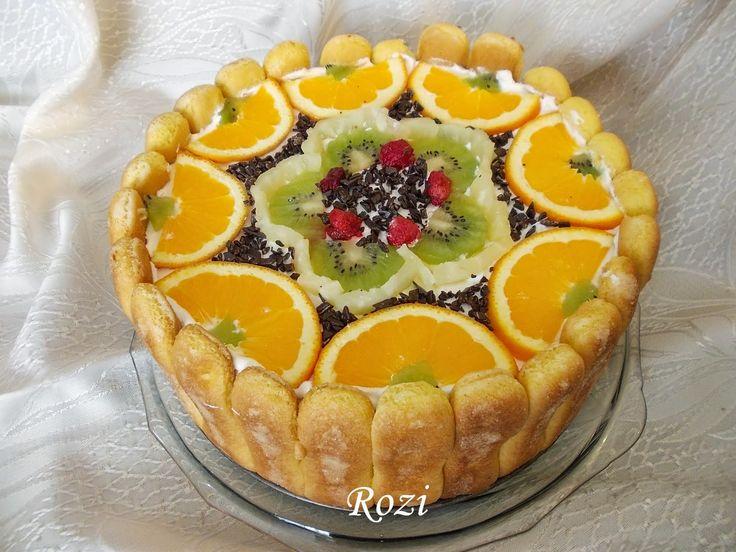 Diplomata torta, sütés nélkül