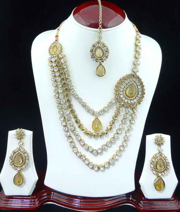 Indian Bridal Wedding Pearl Rani Haar Choker Necklace Sets: 1000+ Images About Bridesmaids Jewelry On Pinterest