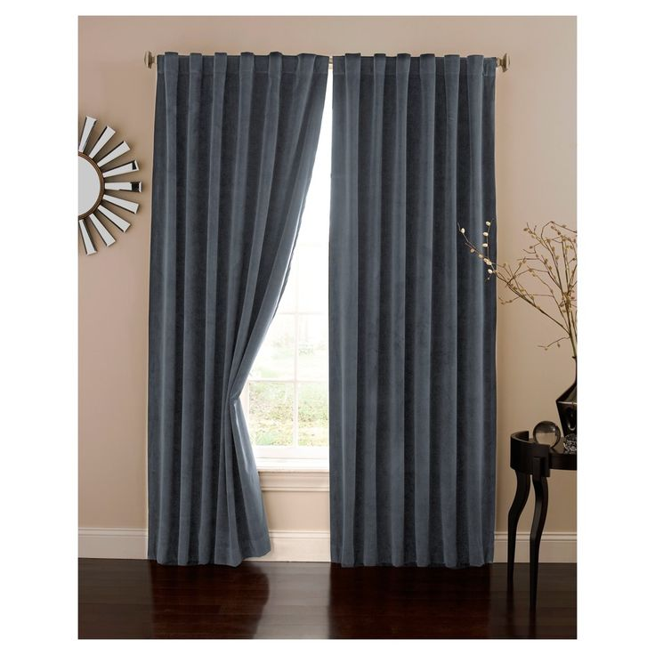 "Velvet Blackout Home Theater Curtain Panel Blue (50""x108"") - Eclipse Absolute Zero"