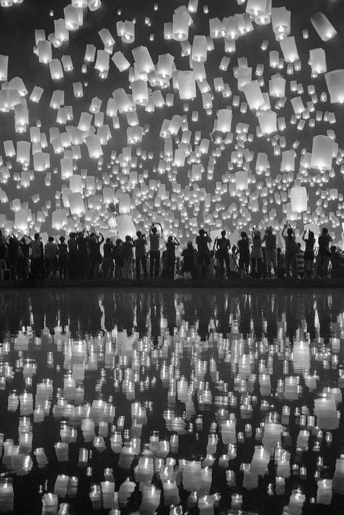 Fête des lumières à Lyon France