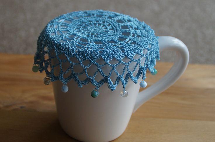 Sky Blue Vintage Inspired Crochet Jug Cover