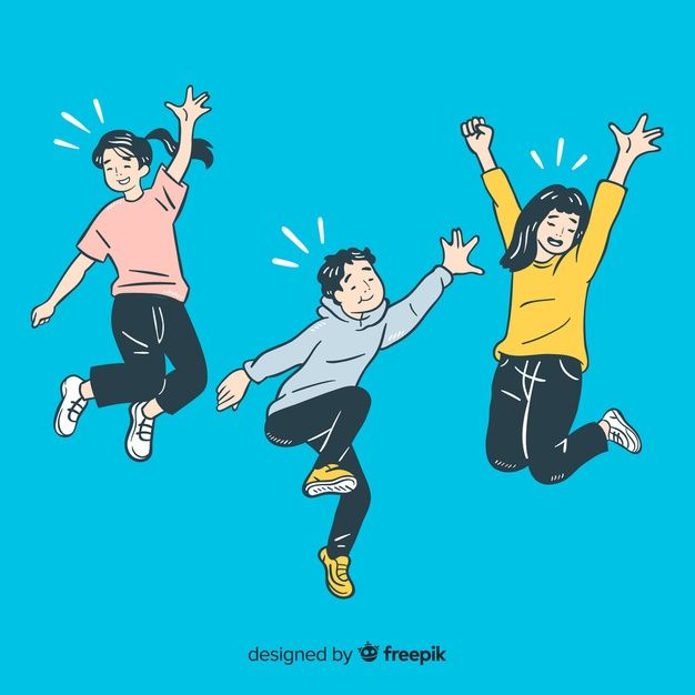 Download Young People Jumping In Korean Drawing Style For Free In 2020 Person Drawing Fashion Drawing Human Vector