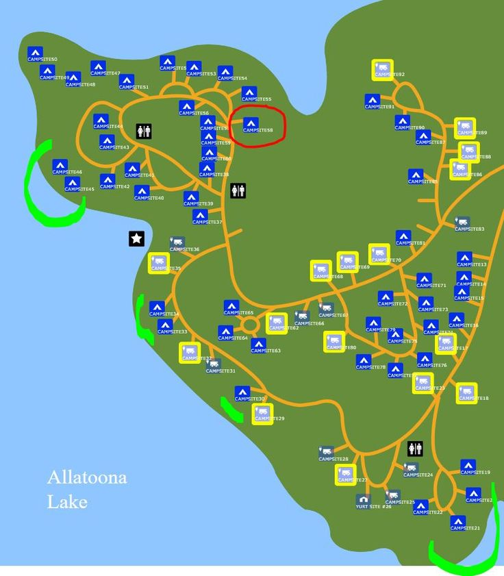Red Top Mountain State Park #camping map