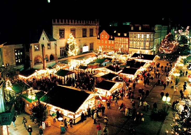 Gottingen, Germany (pardon the missing umlaut) My mom's hometown *and* their Christmas Market. Throw in a castle trip and I could just die.