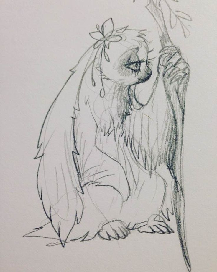 #cartoon #concept #creature #cute #disney #drawing #fantasy #flowers #pencil #sloth #traditional #traditionalart