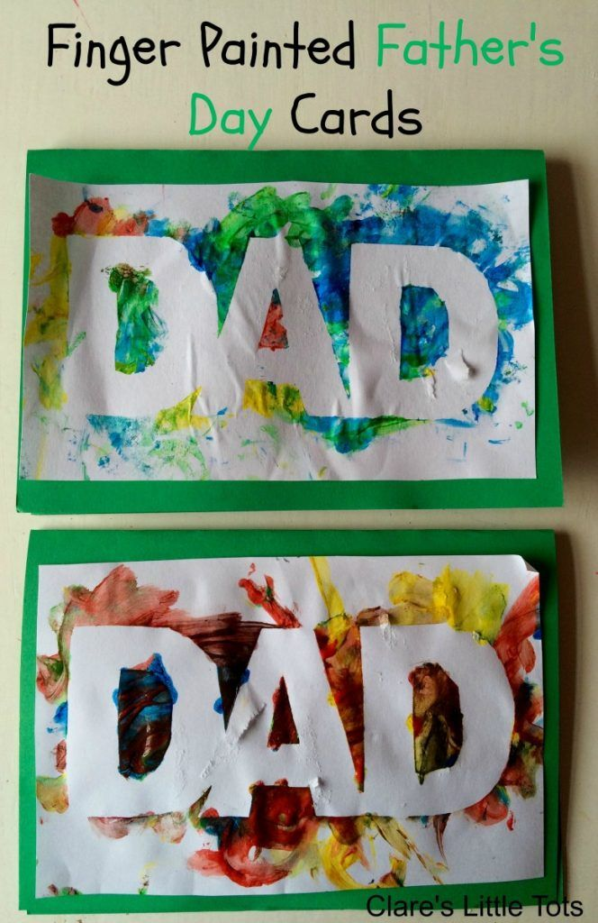 Easy and fun finger painted Father's Day card that babies, toddlers and pres...