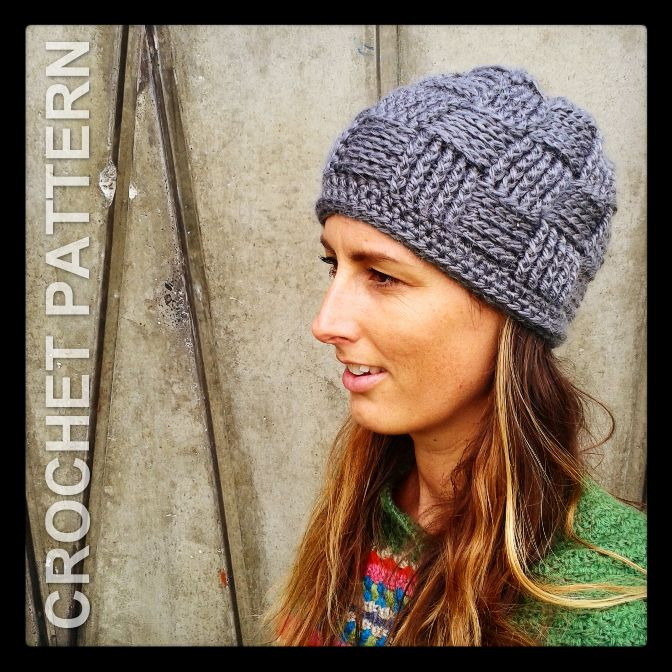 Attractive Crochet Hat Basket Weave Pattern Mold Sewing Pattern