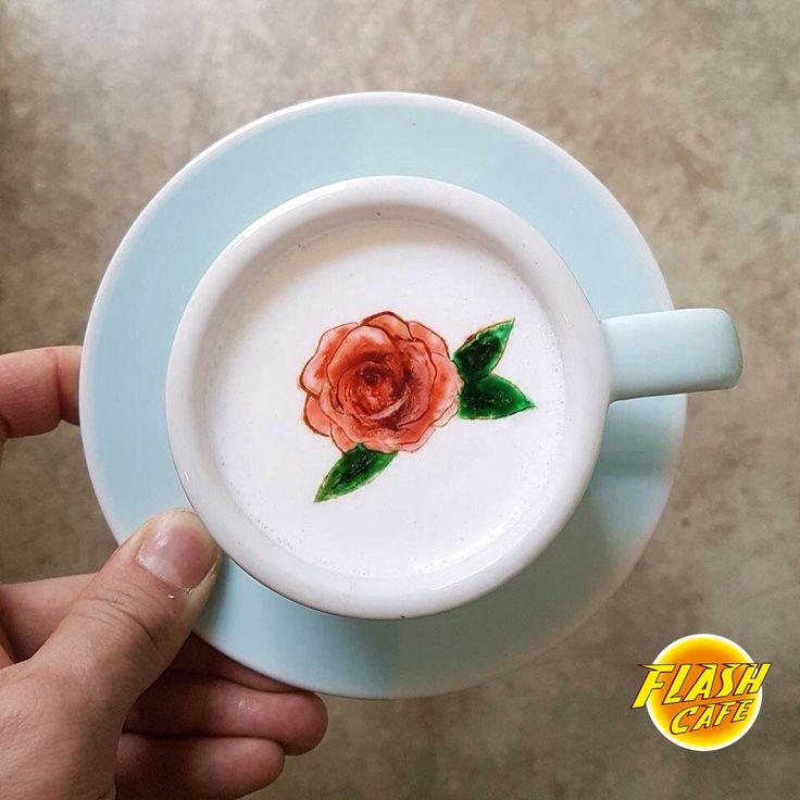 Как Вам такой кофе-арт?  #FlashCafe #ФлешКафе #Flash-Значит-Яркий #FlashCafeExpress #Флешка #СлужбаДоставки44-24-34