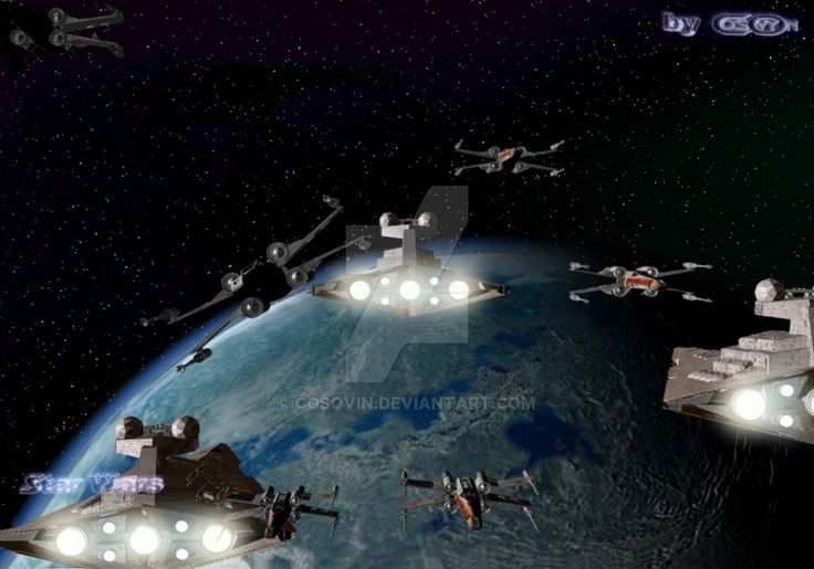 8 Star Wars - Star Destroyers and XWings Attack by cosovin.deviantart.com on @DeviantArt