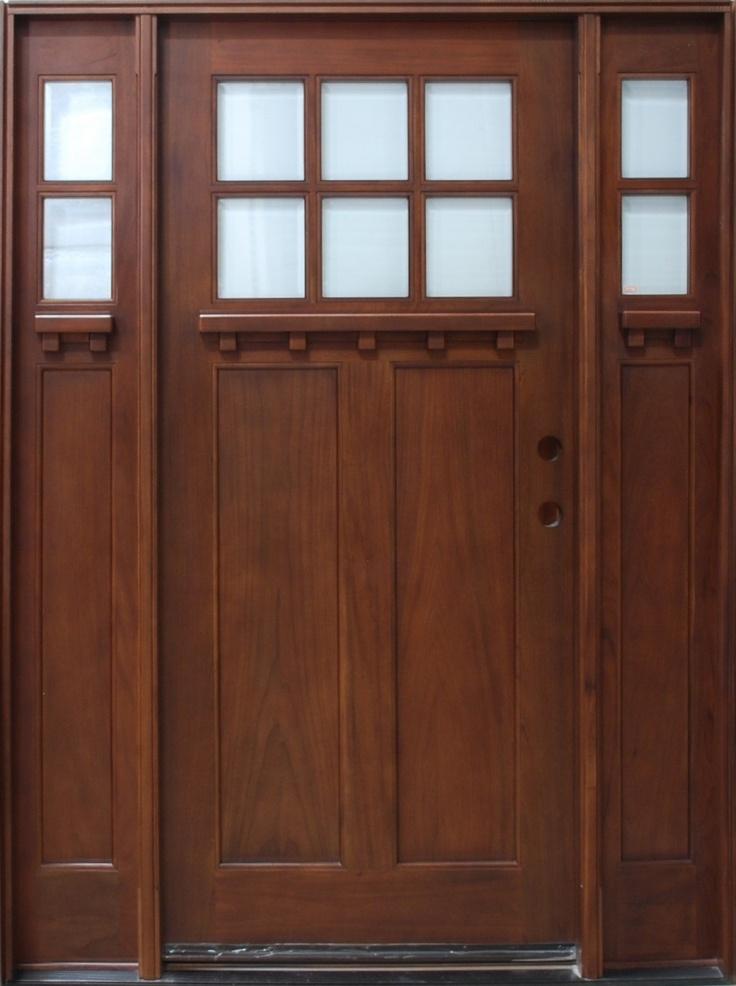Craftsman Ranch Home front doors   Discount Door Center Prehung and Prefinished Craftman Entry Door with ...