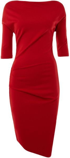 Mary Portas London Long Sleeve Twist and Tuck No Brainer Dress - found pen, on desk tytyty inu!!dukt ml