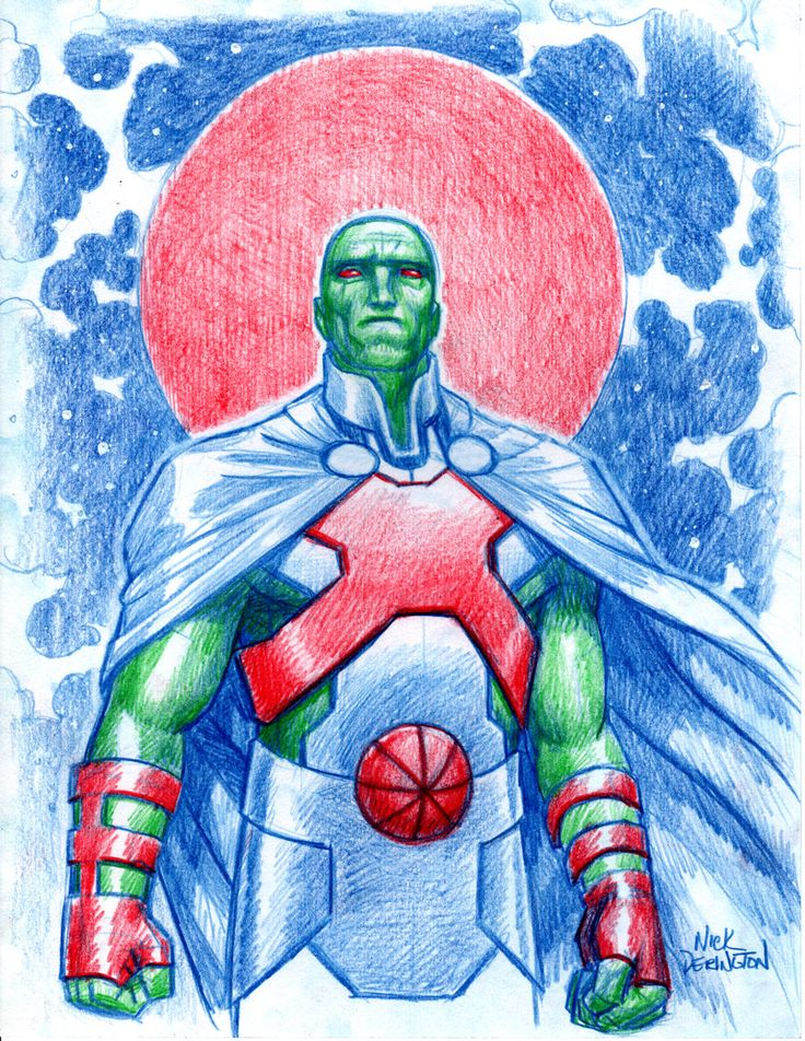 Many have tried to redesign Martian Manhunter's original costume while retaining many of the original visual elements. Here's my attempt.