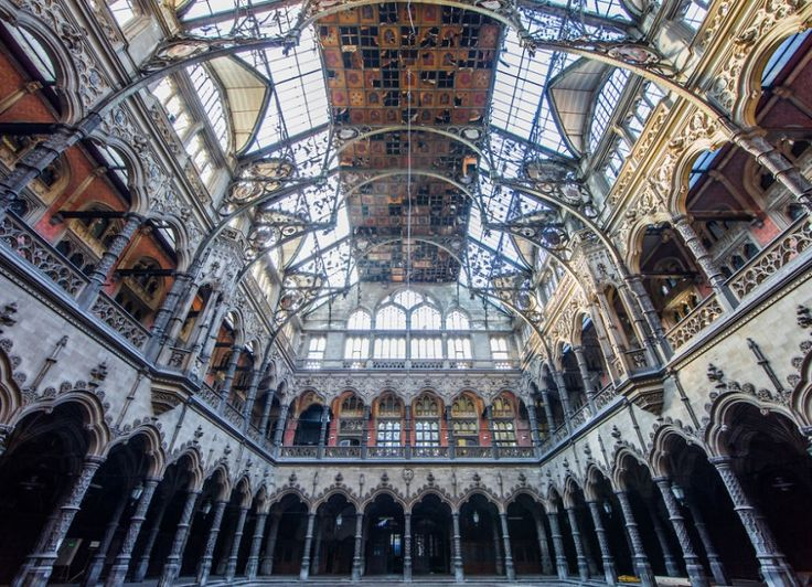 An abandoned stock exchange building in Belgium