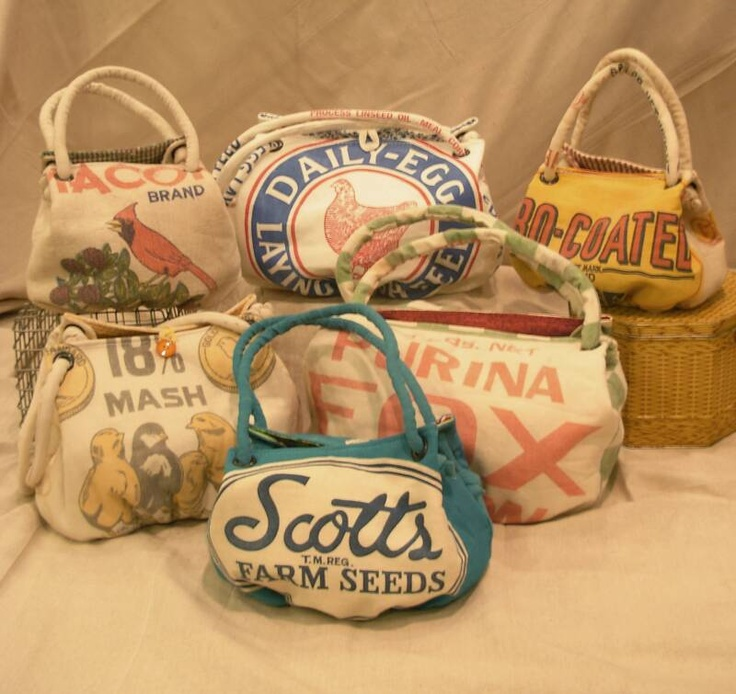 feed sack handbags