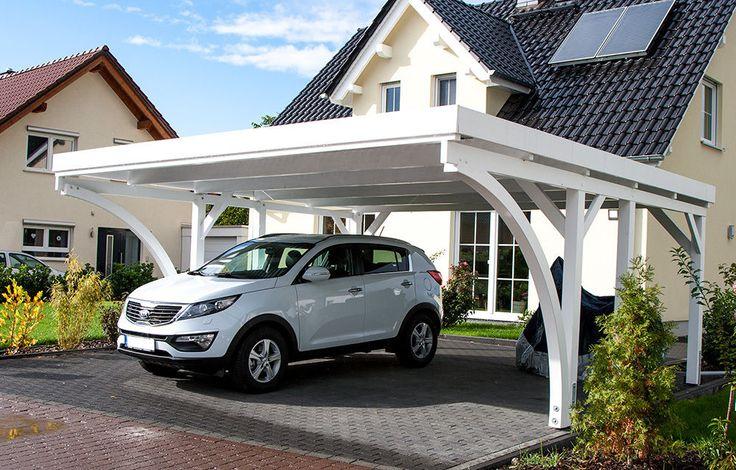 Carport 6x6 M Fichte Inkl. 2 Leimholzbögen Ca. 610x600 Cm