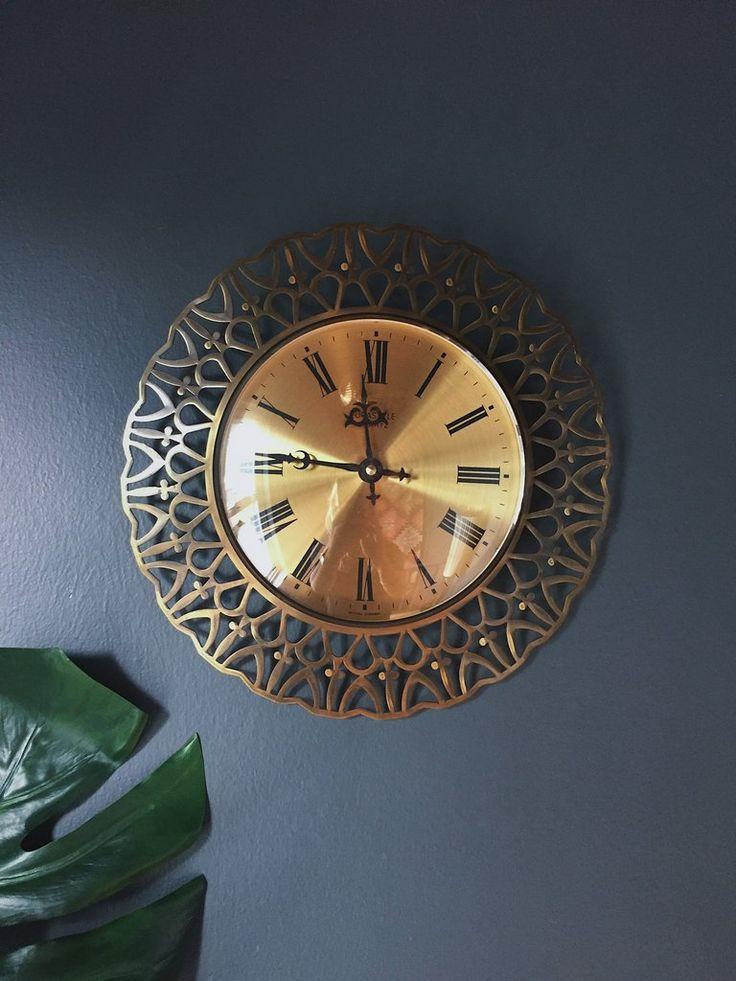 1960's West German Brass Sunburst Clock – Homeplace