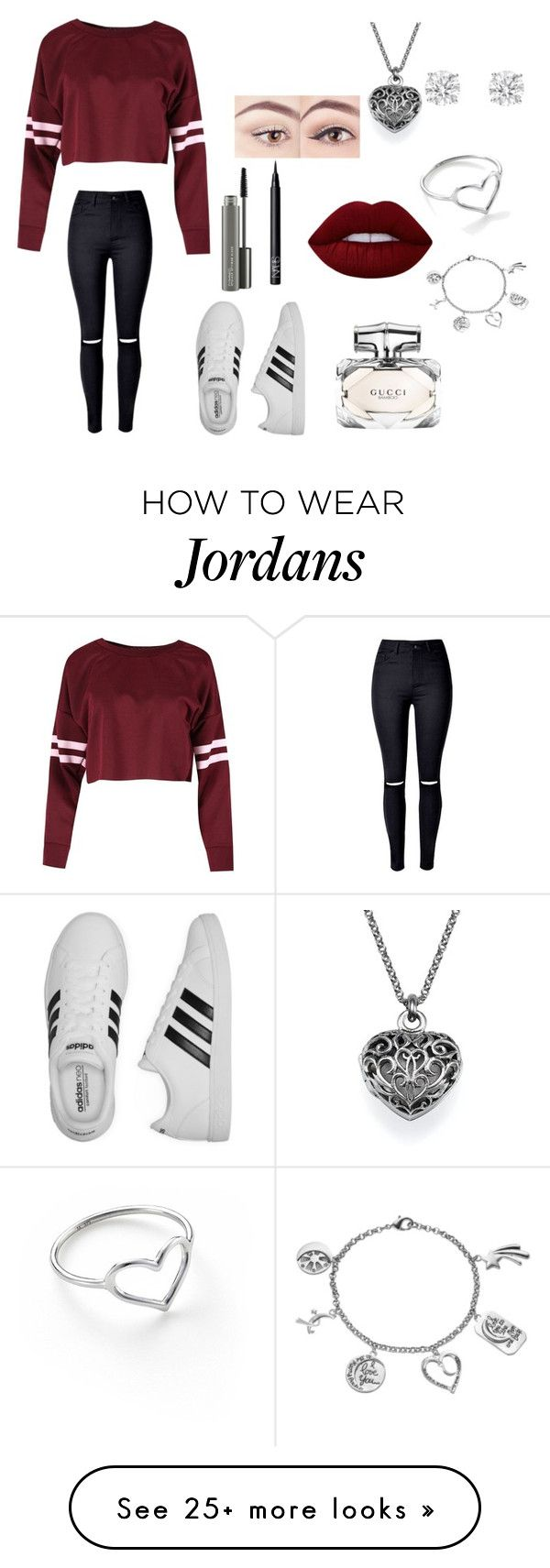 Arriving at beacon hill by npaul6 on Polyvore featuring adidas, NARS Cosmetics, Lime Crime, MAC Cosmetics, Gucci, Jordan Askill, Love This Life and Betteridge