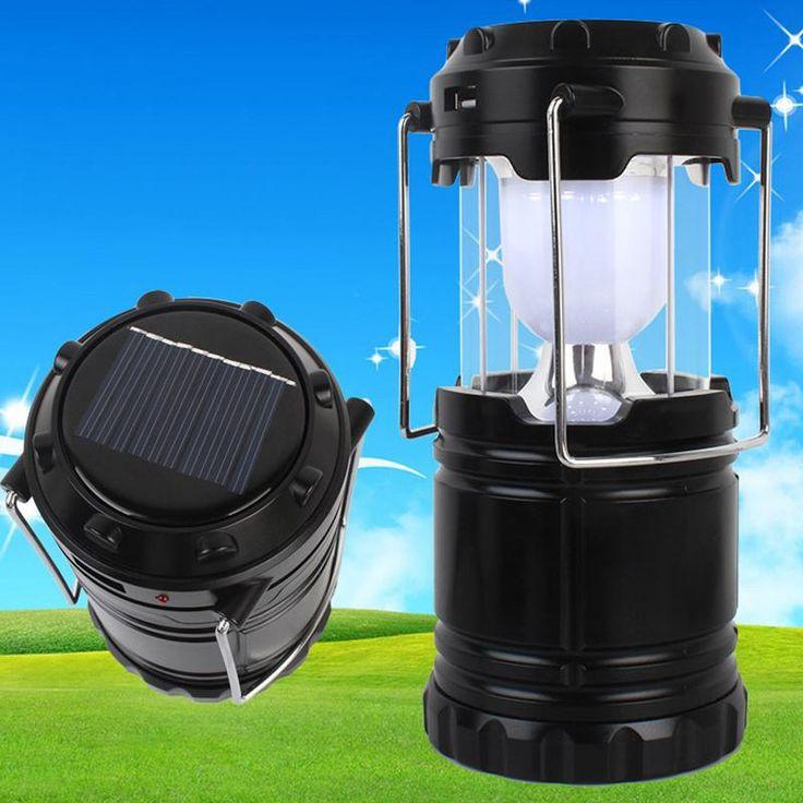 LED SOLAR ENERGY CAMPING LIGHT BUILT IN BATTERY RECHARGABLE LED LANTERN EMERGENCY LIGHTING HANDED SOLAR LAMP