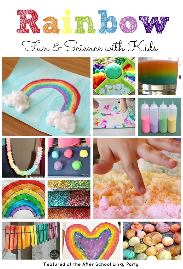 Rainbow Activities for Kids for Spring featured at the Educators' Spin On It