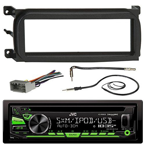 JVC KDR680S Bluetooth CD Car Stereo Audio Receiver  Bundle Combo W Metra Dash Kit For 1998Up ChryslerDodgeJeep Vehicles  Antenna Adapter Cable  Radio Wiring Harness  Enrock Antenna * Click image to review more details.