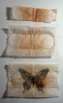 Tea bag. artpaintedthreadsprojects.blogspot.com